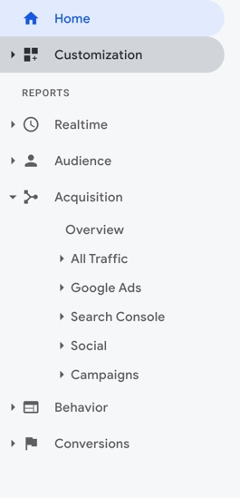How To Access Google Analytics Acquisition Reports